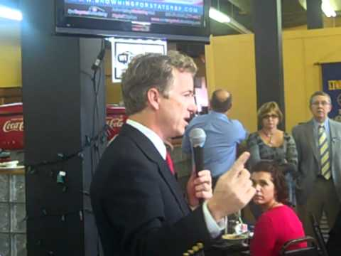 Rand Paul Glasgow Kentucky Campaign Stop 10/28/2010